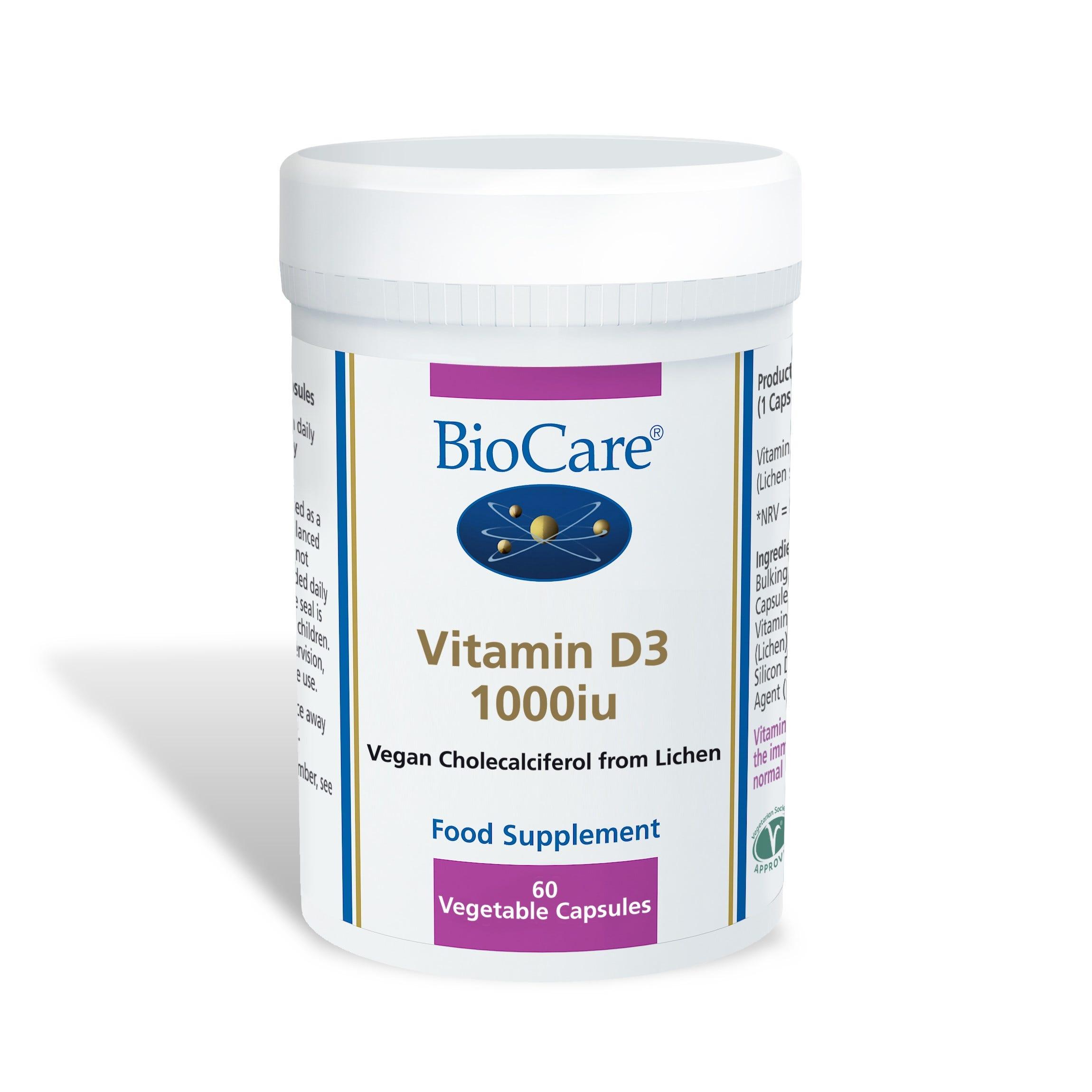 Vitamin D3 1000iu - 60 Capsules
