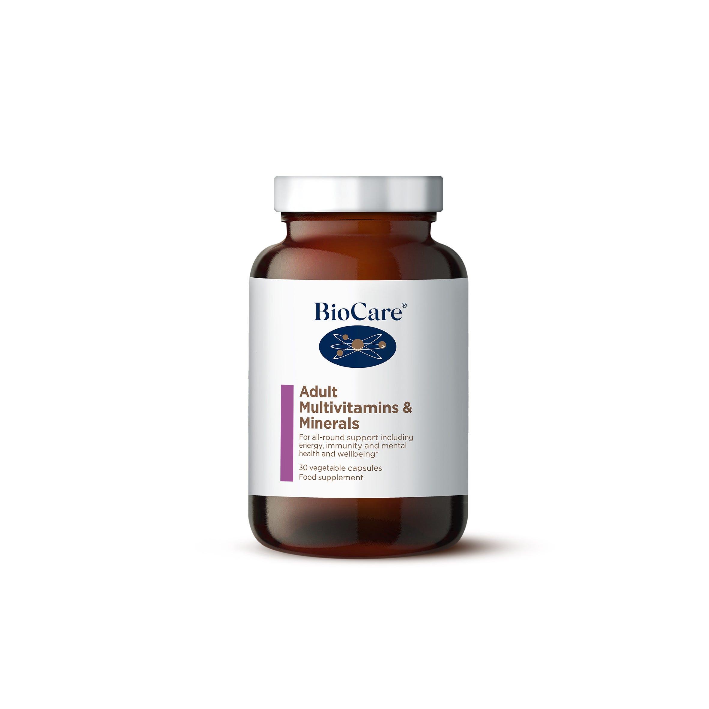 Adult Multivitamins & Minerals 30 Capsules