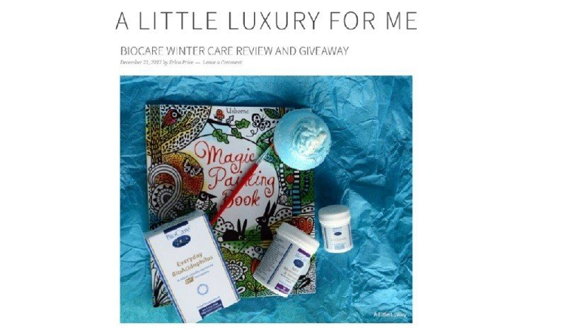 BioCare Winter Care Supplements Reviewed by A Little Luxury for Me