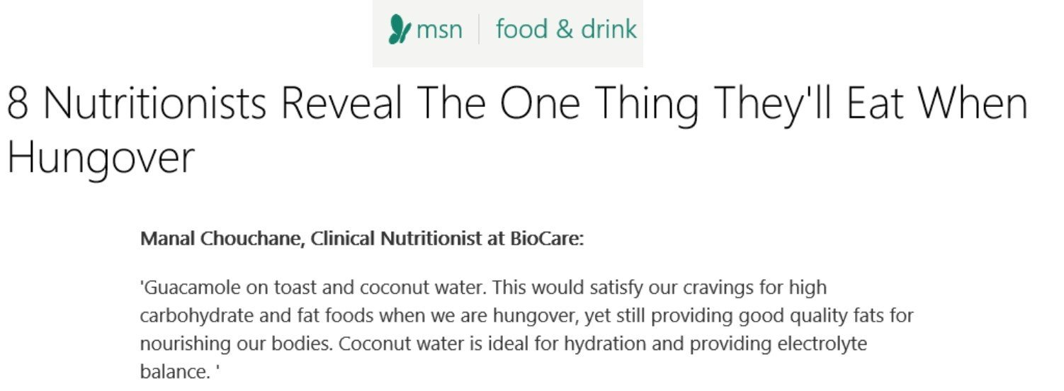 BioCare's Clinical Nutritionist Interviewed by MSN