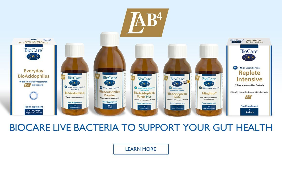 BioCare live bacteria to support gut health